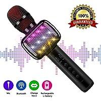 Microfono Karaoke, Microfono Karaoke Bluetooth senza fili per bambini Macchina Karaoke portatile con altoparlante per Home Party KTV Outdoor.