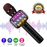 Karaoke-Mikrofon, Wireless Bluetooth Karaoke-Mikrofon für Kinder Tragbare Handheld Karaoke-Maschine mit Lautsprecher für Home Party KTV Outdoor. ...