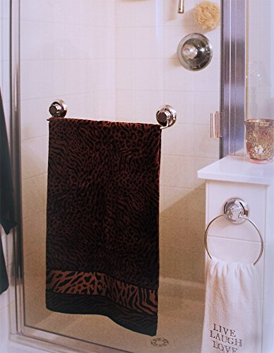 """MaxHold système de vide Barres porte-serviettes à ventouse 18"""" - adhérer, pas de perçage - acier inoxydable - pour salle de bains et cuisine"""