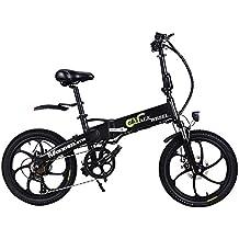GT20 48V * 350W Bicicleta plegable de 20 pulgadas Bicicleta de montaña eléctrica 5 PAS Ciclismo
