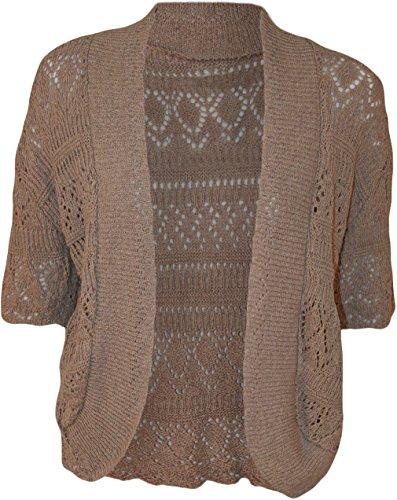 Fast Fashion - Plus La Taille Bouffant Crochet Tricoté Stretchy Haussement - Femmes De Moka
