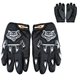 Leopard Junior Kinder MX Motocross Handschuhe Kinder Dirty Bike Quad Racewear Motorrad Handschuhe | Schwarz L - 7cm