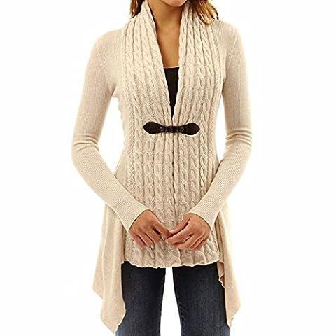 Damen Damen Lange Ärmel Pullover Strick Cardigan Outwear (S,
