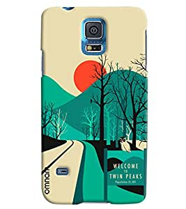 Omnam Welcome To Twin Peaks Printed Designer Back Cover Case For Samsung Galaxy S5