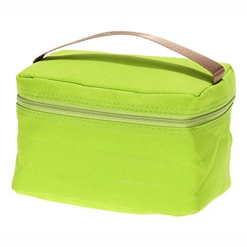 Blue Vessel Tragbare Isolierte Thermische Kühler Lunch Box Tote Picknickaufbewahrungstasche Beutel(Frucht grün) -