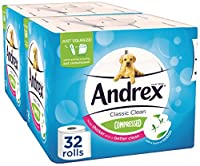 Andrex Classic Clean Compressed Toilet Tissue, Pack Of 32