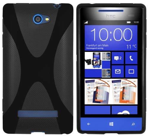 mumbi X-TPU Schutzhülle für HTC Windows Phone 8S Hülle schwarz (Phone Windows Htc)