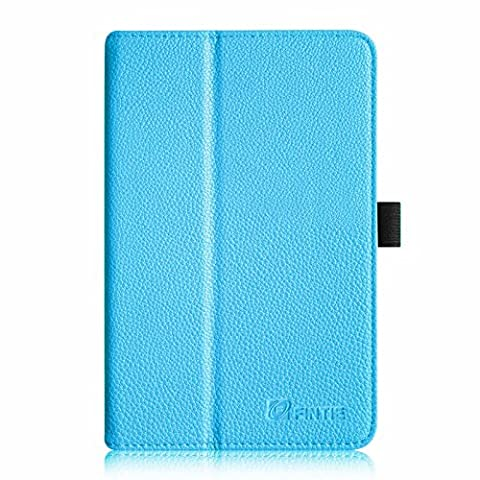 Fintie Acer Iconia Tab 8 A1-840 FHD Hülle – Hochwertige Kunstleder Slim Fit Stand Case Cover Schutzhülle Tasche Etui für Acer Iconia A1-840 FHD (8 Zoll) Tablet, Blau