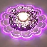 Briskaari Shop- Kreative Deckenleuchten Modern für Flur Veranda Lichter Unterputz Sonnenblume Wandleuchten Asile Lichter (Farbe : Purple)