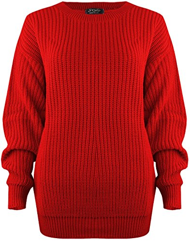 Vanilla Inc Ladies Womens Chunky Baggy Jumper Top