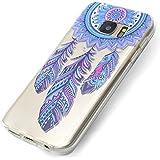 Funda Samsung Galaxy S7, Carcasa Samsung S7 Teléfono Caso Cubrir Transparente, Ultrafina Rigida Anti-rasguñe Anti Choques Anti-Arañazos Funda, Patrón de Campánula Piel Protectora Shell TPU Gel Silicona para Samsung Galaxy S7