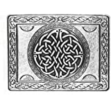 Wallace Rectangular Celtic Knot Antique Silver Plated Kilt Belt Buckle