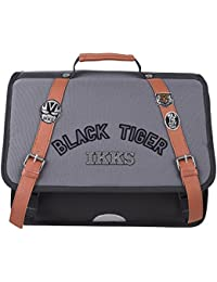 Cartable 38 Ardoise IKKS Black Tiger