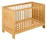 BioKinder Babybett Kinderbett Beistellbett Niklas aus Massivholz Erle 60 x 120 cm