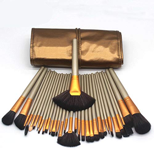 Ywtywt Professional Makeup Brush Set Eye Shadow Foundation Background Multifunction Makeup Beauty Tools Advanced Soft Hair Beauty Tools Eye Lip Brush@32 Brown - Brown-lip Brush