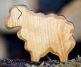 Schaf geschnitzt Holz Tier Krippe Dekoration Massiv Figur Handarbeit Bauerntier Wiese