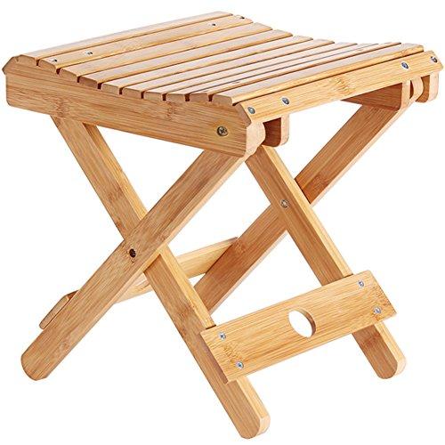 Natürlichen Bambus Klappbare Fußablage hocker Tragbare Schuh hocker Sitzbank Zum sitzen in der dusche Quadratische Kleine Fußablage hocker Holz Mazar Im freien angelstuhl-A 29x31.5cm -