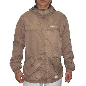 OAKLEY Mens Causual Athletic Sport Zip-Up Windbreaker Jacket Large Beige