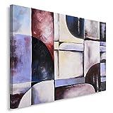 Feeby, Öl-Acryl Malerei, Künstlerische Wandbilder, 100% handgemalt, Deko-Bild, 70X50 cm, ABSTRAKT, LILA