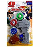 #10: Flipzon 3 in 1 Beyblades 4D/5D System Metal Fighters Fury with Metal Fight Ring and Handle Launcher Toy - Multicolor (Color May Vary)