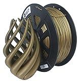 CCTREE Bobine de filament 1,75mm métal bronze pour imprimante 3D pour Creality CR-10S, Ender 3, Tevo, bobine de 1kg, Bronze