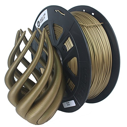 cctree 3d printer metal bronce Filled filamento 1.75mm for creality CR de 10s, 1KG Spool (2.2lbs), bronce