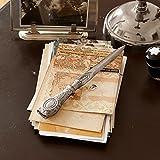 LOBERON Brieföffner Parsifal, Schreibwaren, Bürobedarf, Messing, H/B/T ca. 2/22,5/3 cm, silber