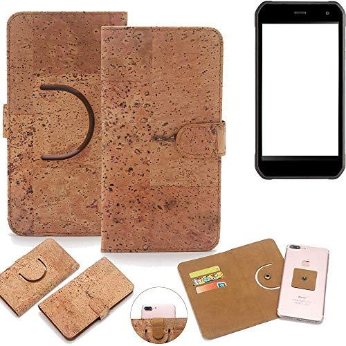 K-S-Trade Schutz Hülle für Cyrus CS 40 Handyhülle Kork Handy Tasche Korkhülle Schutzhülle Handytasche Wallet Case Walletcase Flip Cover Smartphone