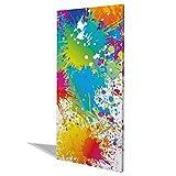 BANJADO Design Magnettafel groß, Memoboard weiß, Schreibtafel 37cm x 78cm, magnetische Pinnwand mit Motiv Farbspritzer