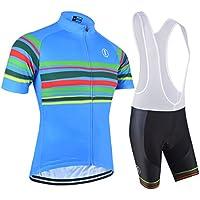 BXIO Los Jerseys de Ciclo - Transpirable Jersey de la Bici Azul Grande
