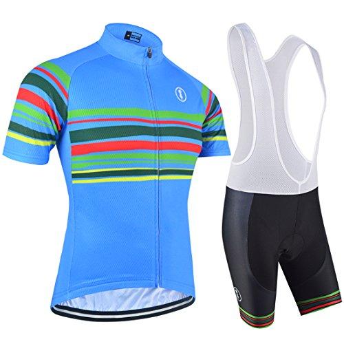 BXIO Cycling Bib Shorts 9D Gel Acolchado Bicicleta De Carretera Shorts Anti-Bac Pad Bicicleta Bib Shorts Fitness Costura Cosiendo Corto Bib Pantalones (Shirts And Bib Shosts, XL)