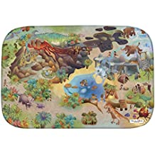 """Casa de Niños (hov0p) """"Dino"""" Ultra suave alfombra, multicolor, 130x 180x 0,76cm"""