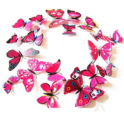 Home Decor 3D della farfalla di modo