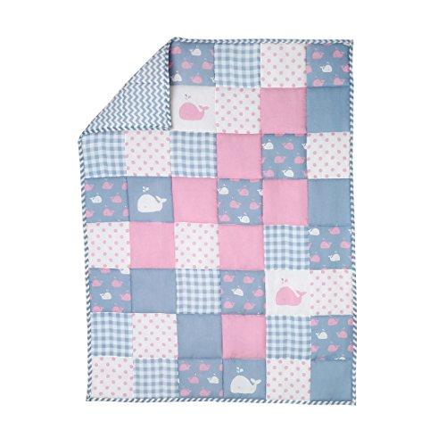 Colcha Edredón Reversible Manta Bebé Blanket Rosa Algodón Orgánico By Rajrang Baby...