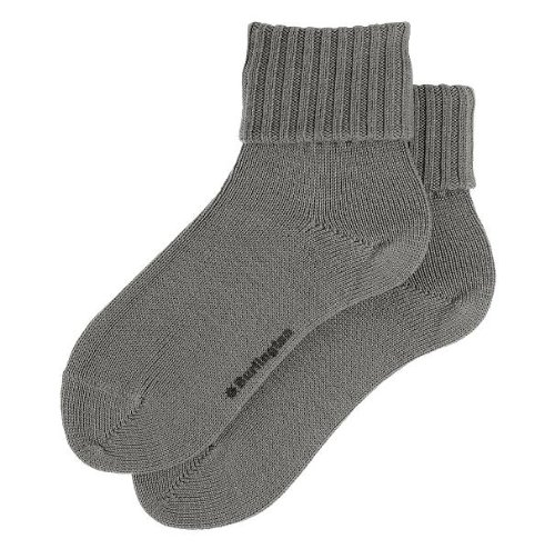 Burlington Damen Strick Socken Plymouth, Gr. 36/41 (Herstellergröße: 36-41), Grau (dark grey 3070)