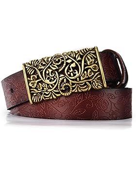 Correa de la hebilla lisa de grabación en relieve/salvajes,ocio,cinturón de cuero del/versión coreana de la moda...
