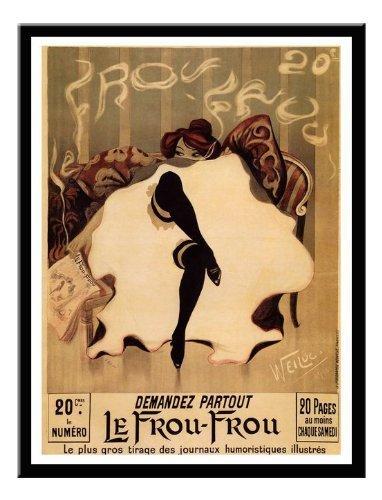 iPosters Le Frou Frou, Lucien Henri Weil Jugendstil Print Memo Board, Magnet schwarz...