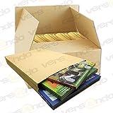 100 Faltentaschen B4 250 x 353 mm, natron braun, haftklebend, ohne Fenster, 130g/qm