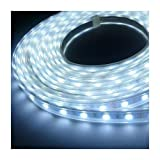 LEDER® 12v LED Flexible WHITE SMD Strip Light 5 metres / 300 LED's + 12v Power Supply ** IDEAL FOR GARDEN, HOMES, AQUARIUM, KITCHEN, ETC **