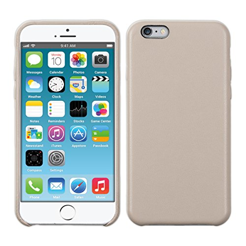 kwmobile Hülle für Apple iPhone 6 Plus / 6S Plus - Kunstleder Case Handy Schutzhülle - Backcover Cover Beige