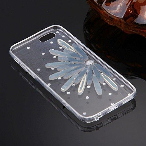 GHC Cases & Covers, Für iPhone 6 u. 6s Diamant verkrustete Gläser Katze-Perlen-Bell-Muster weiche TPU schützende Fall-rückseitige Abdeckung ( SKU : IP6G5600N ) IP6G5600C