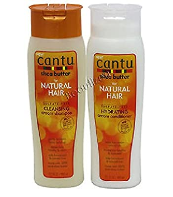 Cantu Shea Butter for Natural Hair Shampoo and Conditioner SULFATE FREE from Cantu