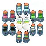 Yuccer Lacci Elastici per Scarpe Bambini, 6 Pacchi Lacci in Gomma Impermeabili in Silicone Stringhe Elastiche