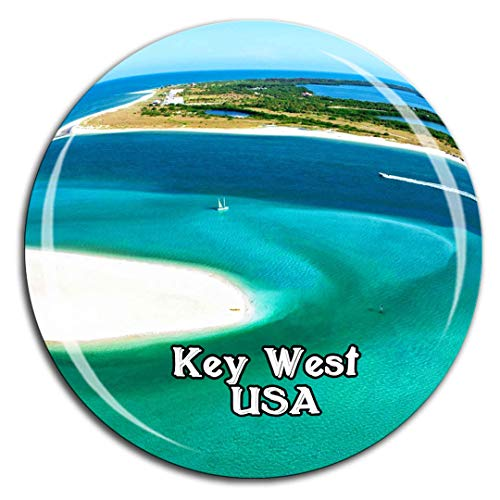 Key West America USA Kühlschrankmagnet 3D Kristallglas Tourist City Travel Souvenir Collection Geschenk Strong Refrigerator Sticker