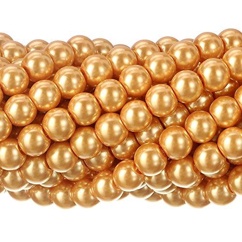 Tiny Satin Glanz Glas runde Perlen Perlen für Schmuckherstellung (Halloween Mardi Gras Perlen)