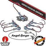 Angel Berger VMC Jigkopf Jighaken Bleikopf Rundkopfjig