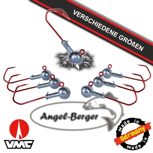 Angel Berger VMC Jigkopf Jighaken Bleikopf Rundkopfjig (2/0 5g - 5 Stück)