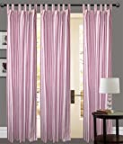 PINK STRIP Door curtains setof 3 pc 100%...