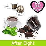 50 Capsule After Eight Cioccolato Menta Compatibili Nespresso