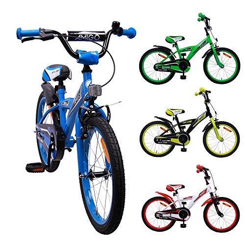 amiGO BMX Turbo - Kinderfahrrad - 18 Zoll - Jungen - mit Rücktritt - ab 5 Jahre - Blau